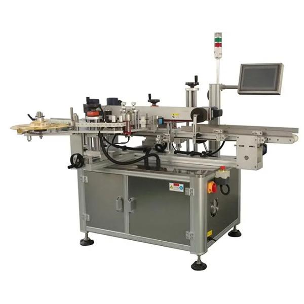 Automatikus karton sarokcímkéző gép - egy vagy két oldalsó kartondoboz címkéző gép