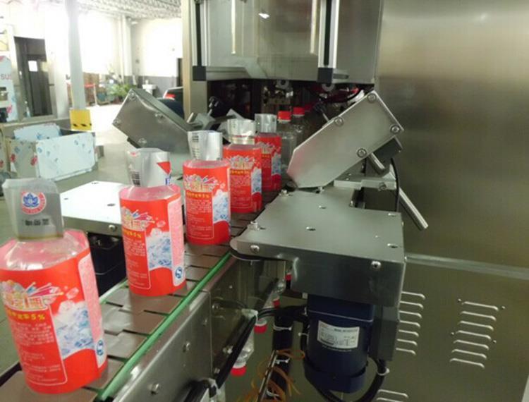 Automatikus dupla fejű hő PVC címke zsugorító hüvely címkéző gép