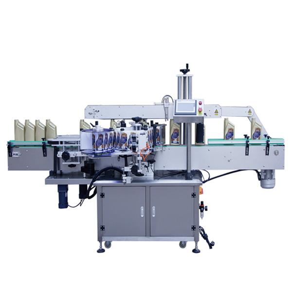 Automatikus kétoldalas címkéző gép sampon lotion palackokhoz
