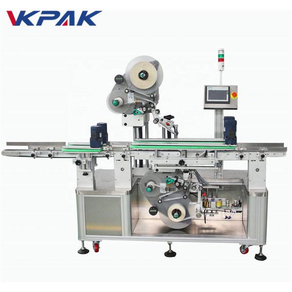 Automatikus kétoldalas felső és alsó matrica címkéző gép