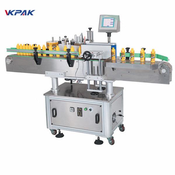 Automata kerek palack egyik oldali ragasztó matrica címkéző gép