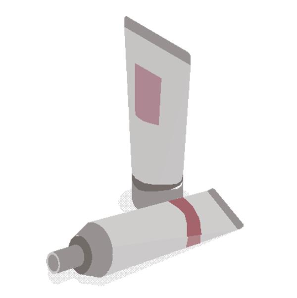 Kozmetikai tubus csomagoló címkék