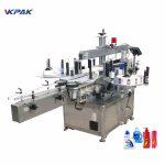 Nagy sebességű pneumatikus automatikus kétoldalas lapos üveg címkéző gép