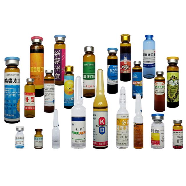 Lineáris vízszintes szervomotoros ampulla palackok fiolák címkéző gépe